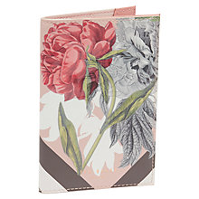 Buy Ted Baker Tessa Palace Gardens Leather Travel Wallet, Dusky Pink Online at johnlewis.com