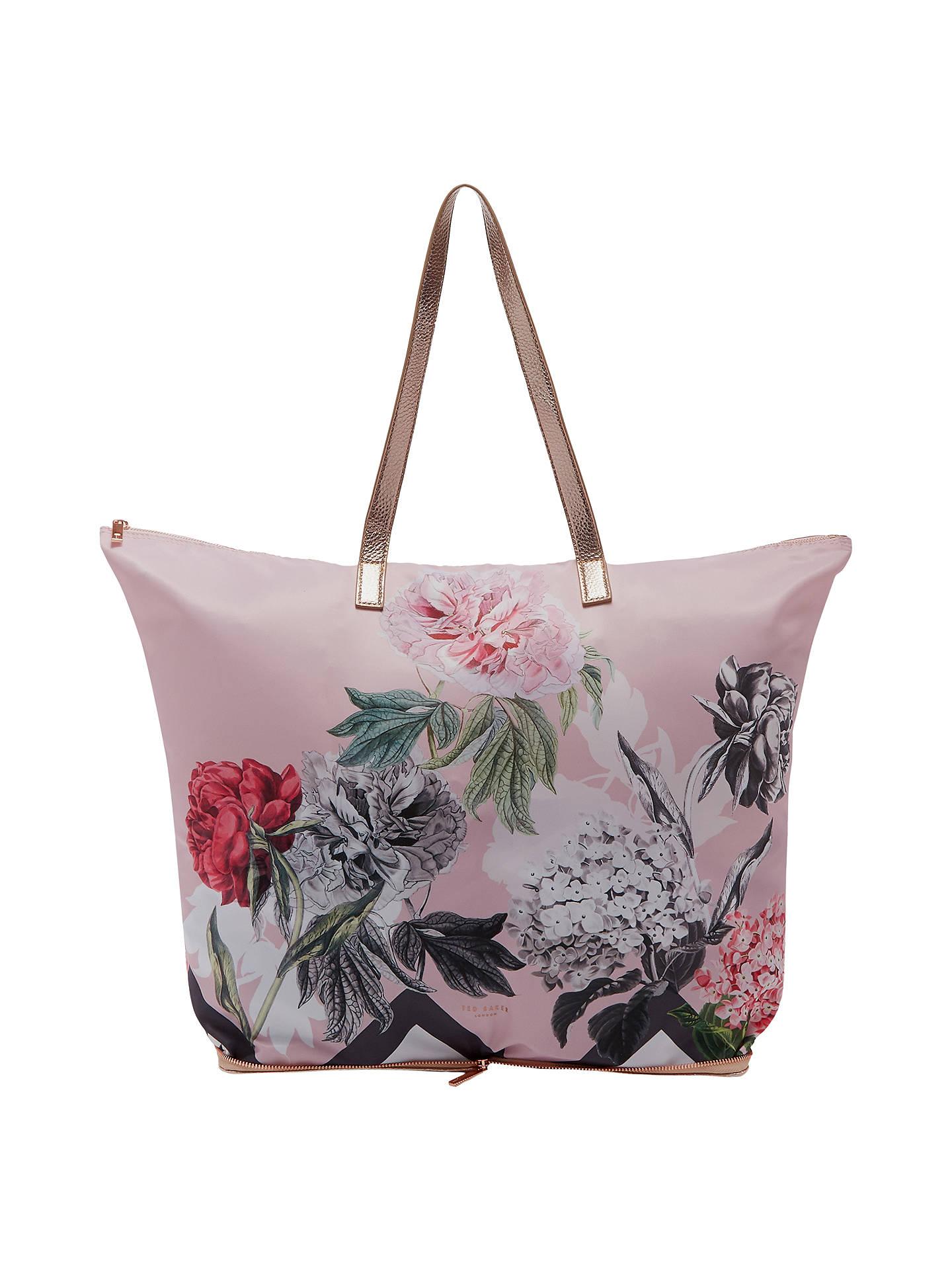 ea4478ec8 Buy Ted Baker Leanna Palace Gardens Foldaway Shopper Bag, Dusky Pink Online  at johnlewis.