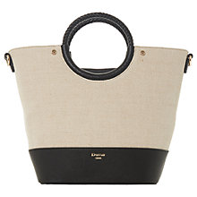 Buy Dune Doefield Woven Canvas Bucket Bag Online at johnlewis.com