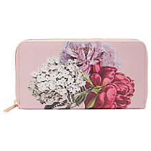 Buy Ted Baker Evara Leather Palace Gardens Matinee Purse, Dusky Pink Online at johnlewis.com