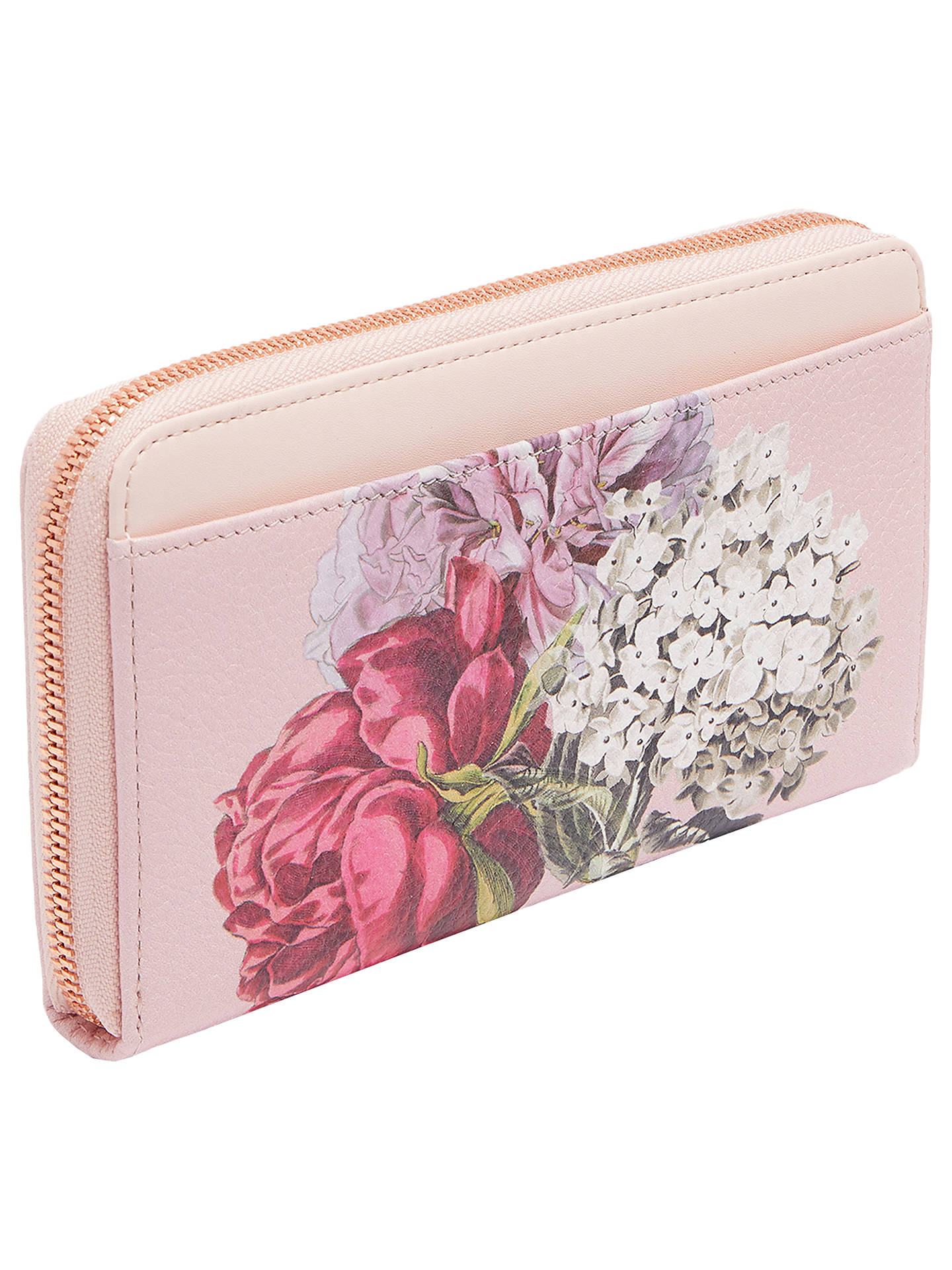 a215945e70 Buy Ted Baker Evara Leather Palace Gardens Matinee Purse, Dusky Pink Online  at johnlewis.