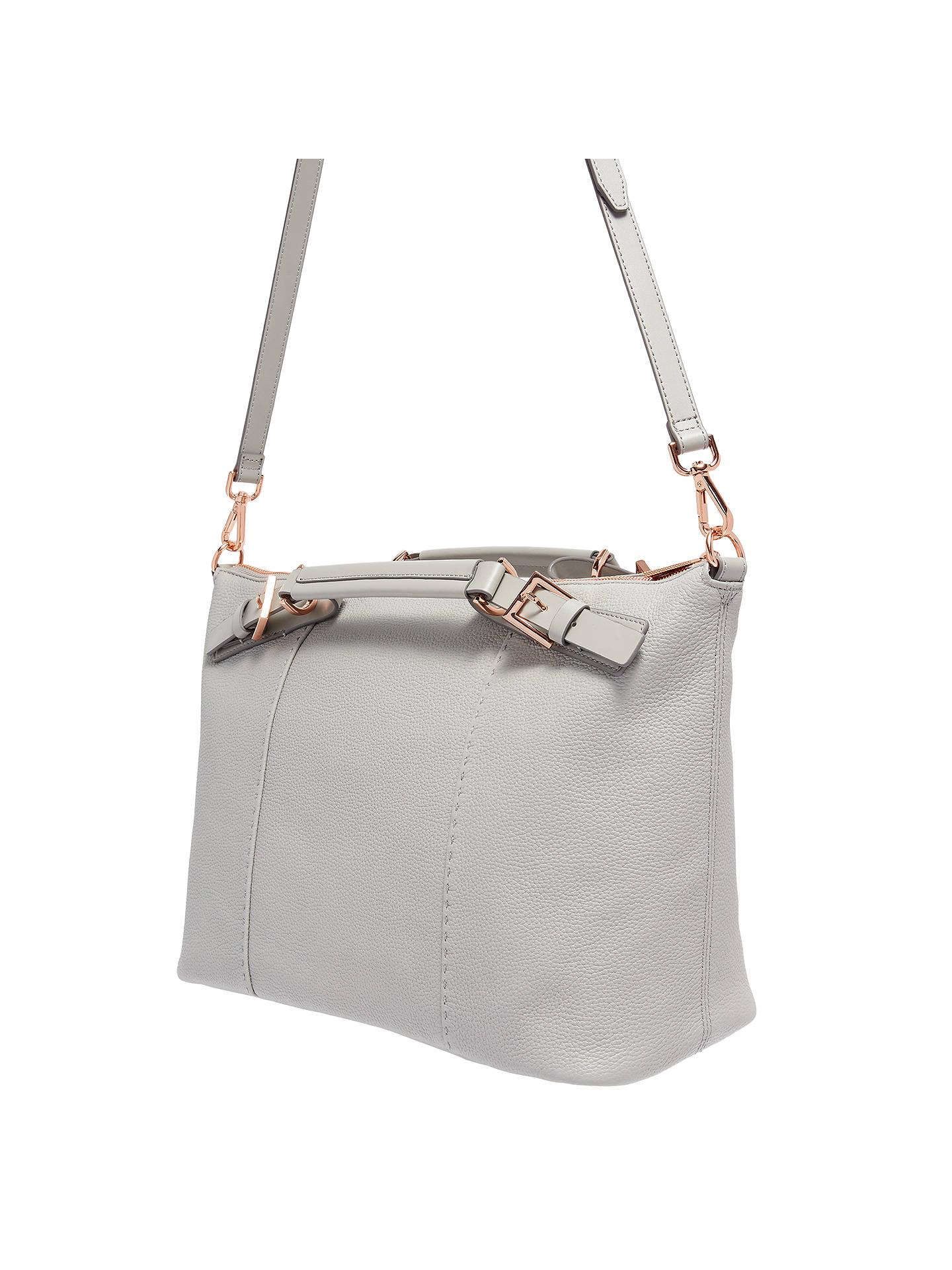 d57e933cb1d ... Buy Ted Baker Salbee Pop Hand Leather Large Tote Bag, Mid Grey Online  at johnlewis ...