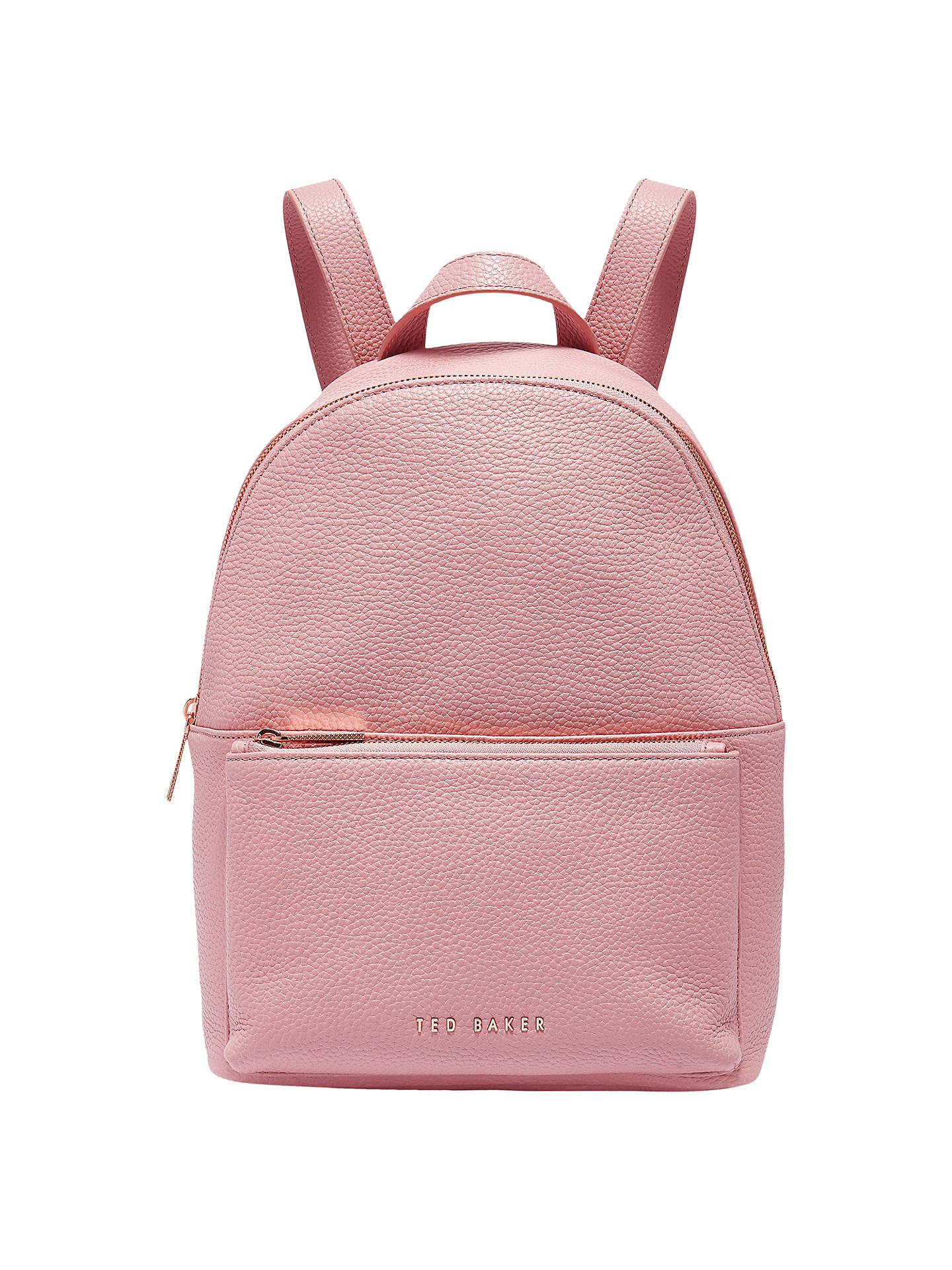 4a3b92cfa Buy Ted Baker Pearen Leather Backpack, Dusky Pink Online at johnlewis.com  ...