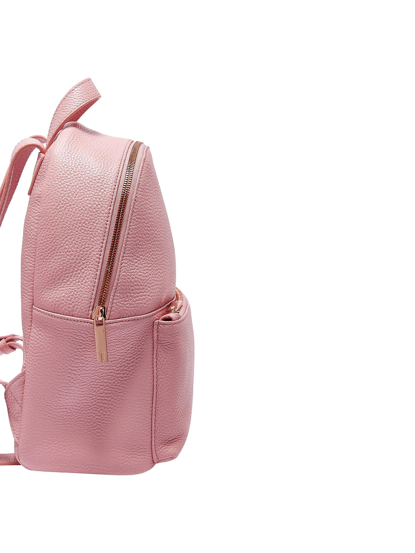 930f6fcd6 ... Buy Ted Baker Pearen Leather Backpack, Dusky Pink Online at  johnlewis.com