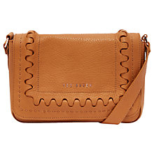 Buy Ted Baker Kelsehy Leather Cross Body Bag, Tan Online at johnlewis.com