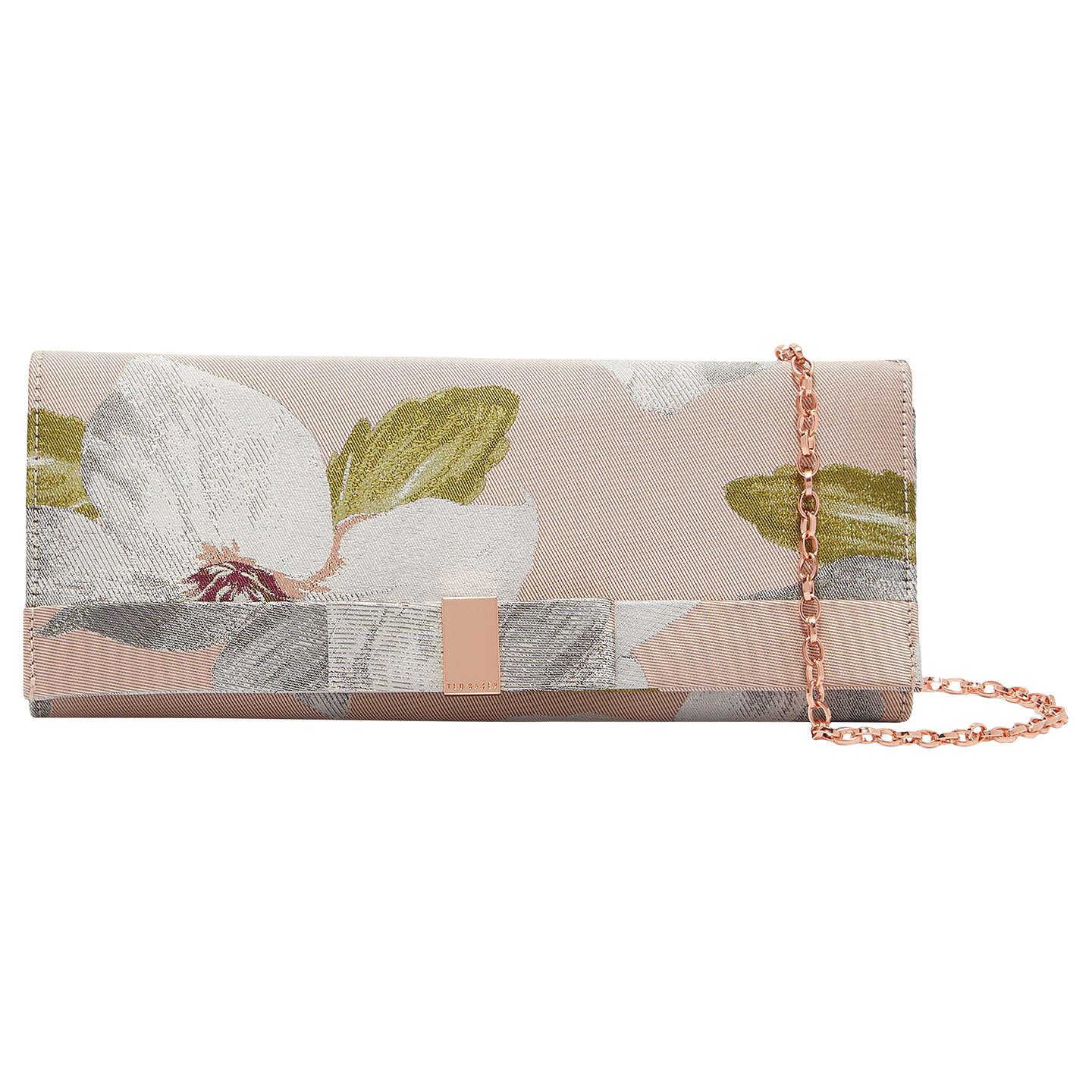 Ted Baker Korri Chatsworth Bloom Clutch Bag, Nude Pink by Ted Baker
