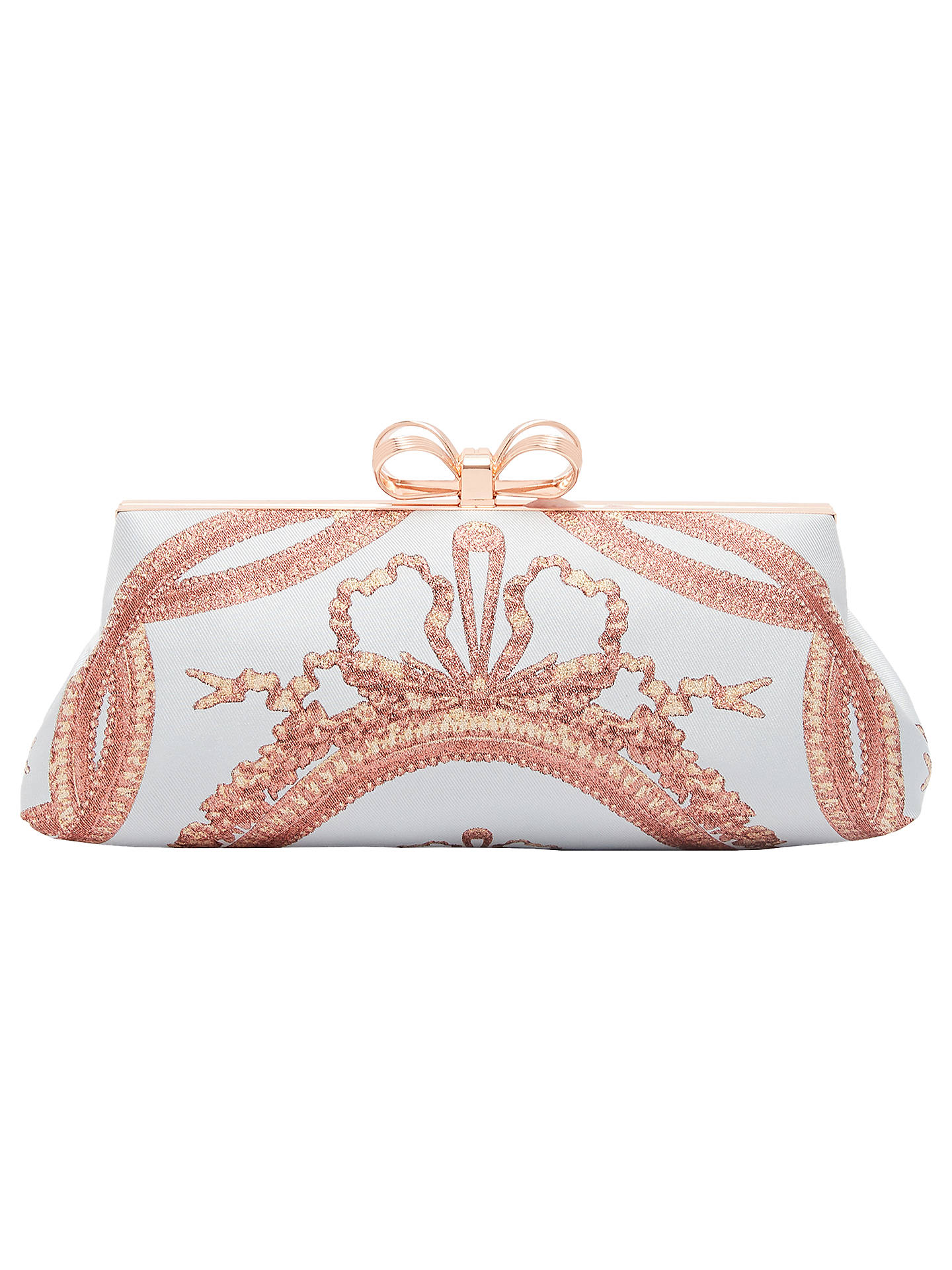 BuyTed Baker Karlii Versailles Frame Clutch Bag, Pale Blue Online at  johnlewis.com ... c9fa434deed