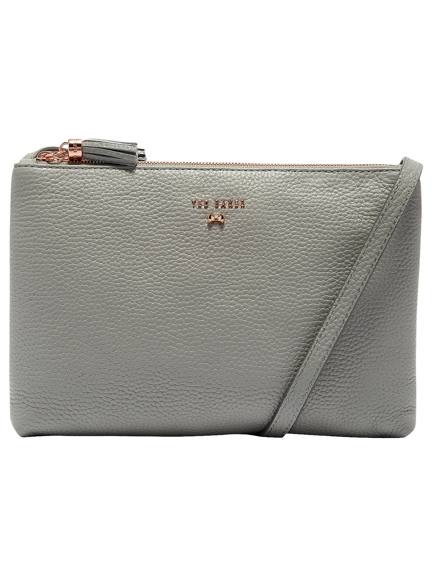 98b6b954f62a Ted Baker Suzette Leather Double Zip Cross Body Bag at John Lewis ...