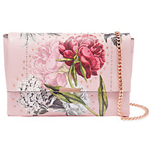Buy Ted Baker Ploomi Palace Gardens Leather Cross Body Bag, Dusky Pink Online at johnlewis.com