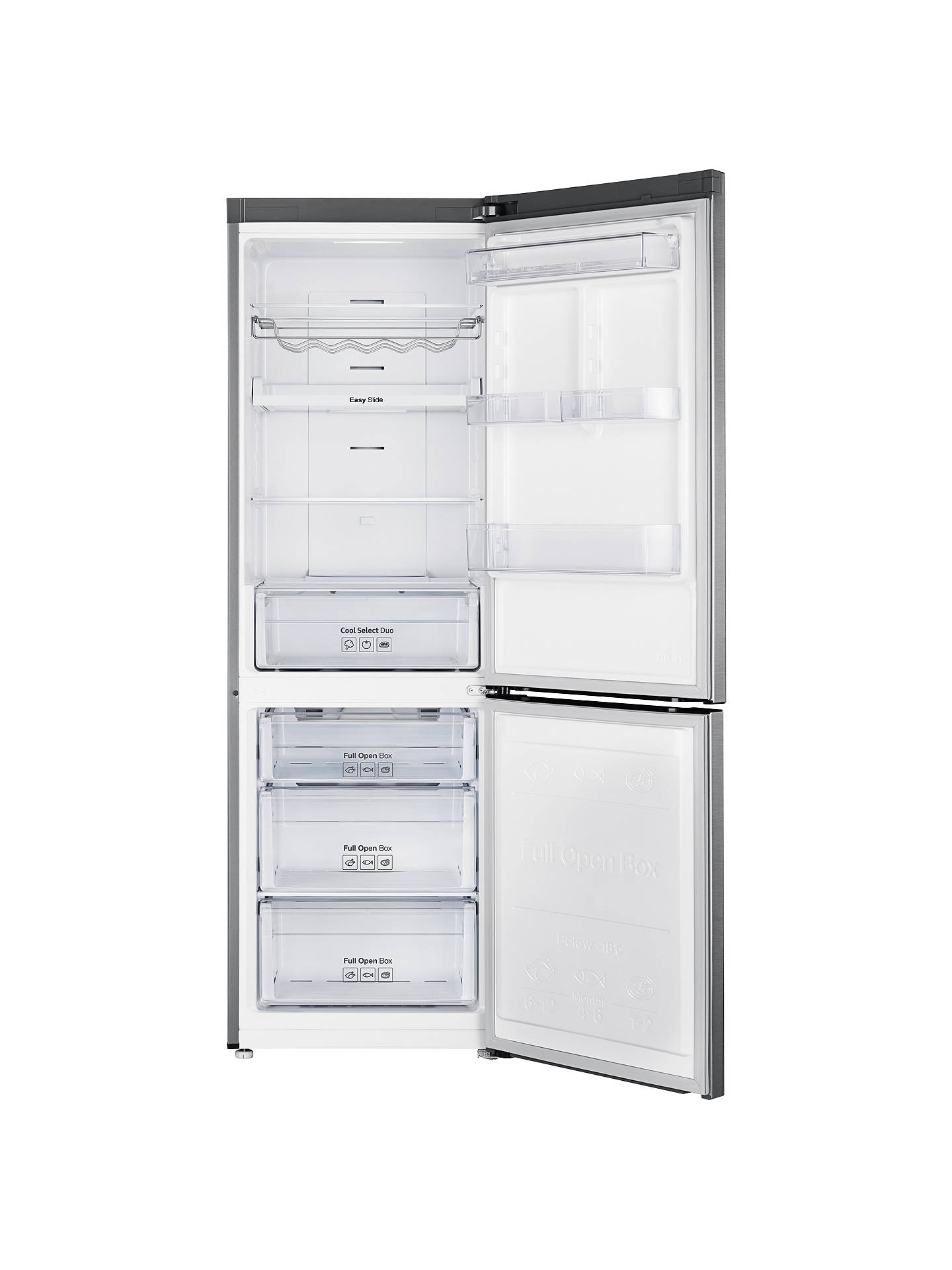 BuySamsung RB33N321NSS/EU Freestanding Fridge Freezer, A+++ Energy Rating, 60cm Wide, Brushed Steel Online at johnlewis.com