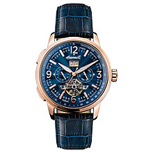 Buy Ingersoll Men's The Regent Automatic Chronograph Date Heartbeat Leather Strap Watch Online at johnlewis.com