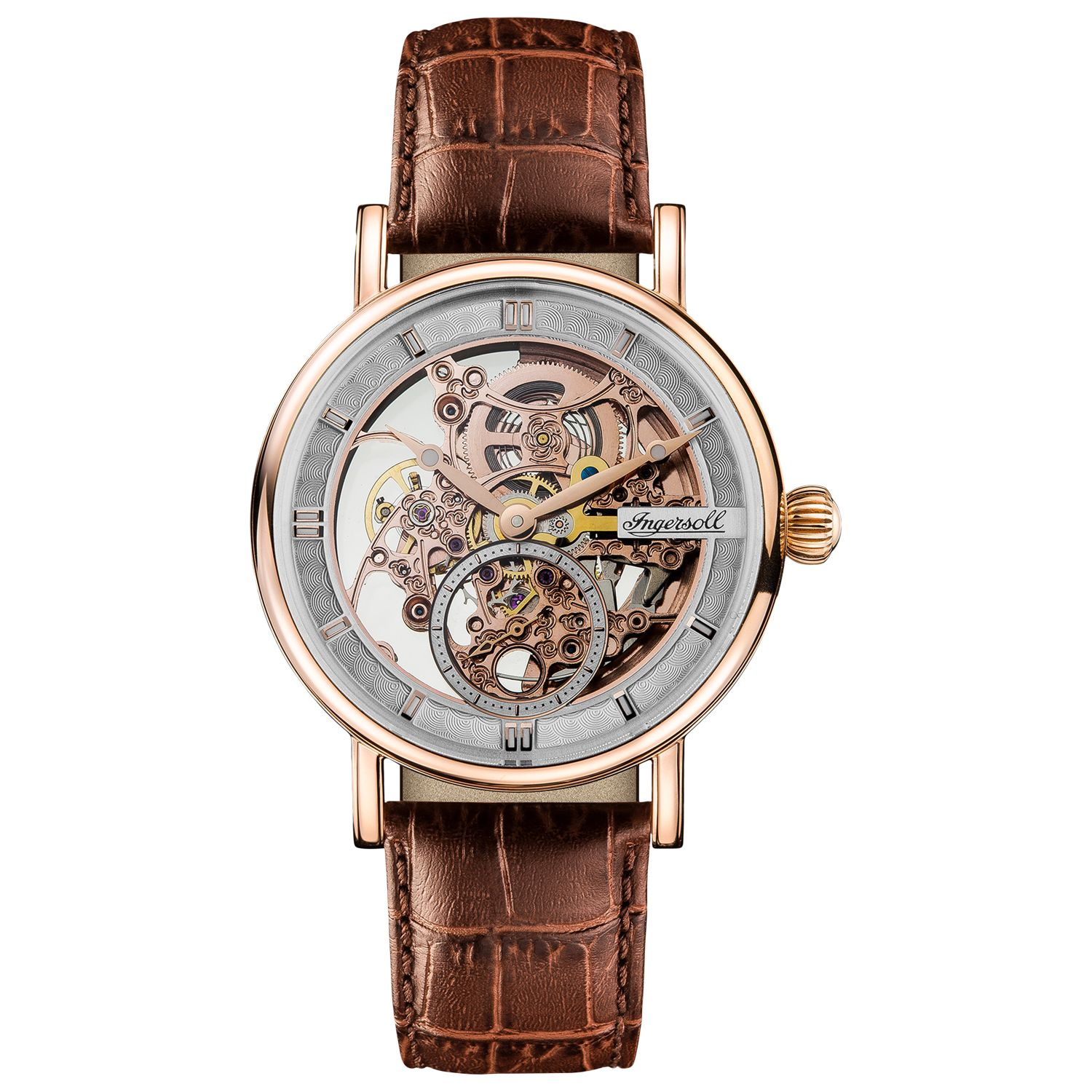 Ingersoll Ingersoll Men's The Herald Skeleton Automatic Leather Strap Watch