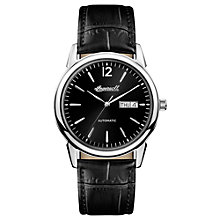 Buy Ingersoll Men's The New Haven Automatic Day Date Leather Strap Watch Online at johnlewis.com