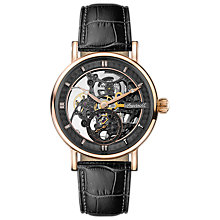 Buy Ingersoll Men's The Herald Skeleton Automatic Leather Strap Watch Online at johnlewis.com