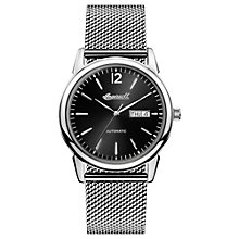 Buy Ingersoll I00505 Men's The New Haven Automatic Day Date Bracelet Strap Watch, Silver/Black Online at johnlewis.com