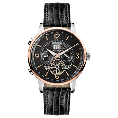 Image of Ingersoll Men's The Grafton Automatic Chronograph Date Heartbeat Leather Strap Watch