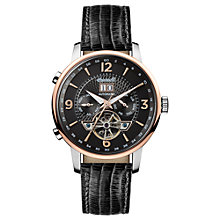 Buy Ingersoll Men's The Grafton Automatic Chronograph Date Heartbeat Leather Strap Watch Online at johnlewis.com