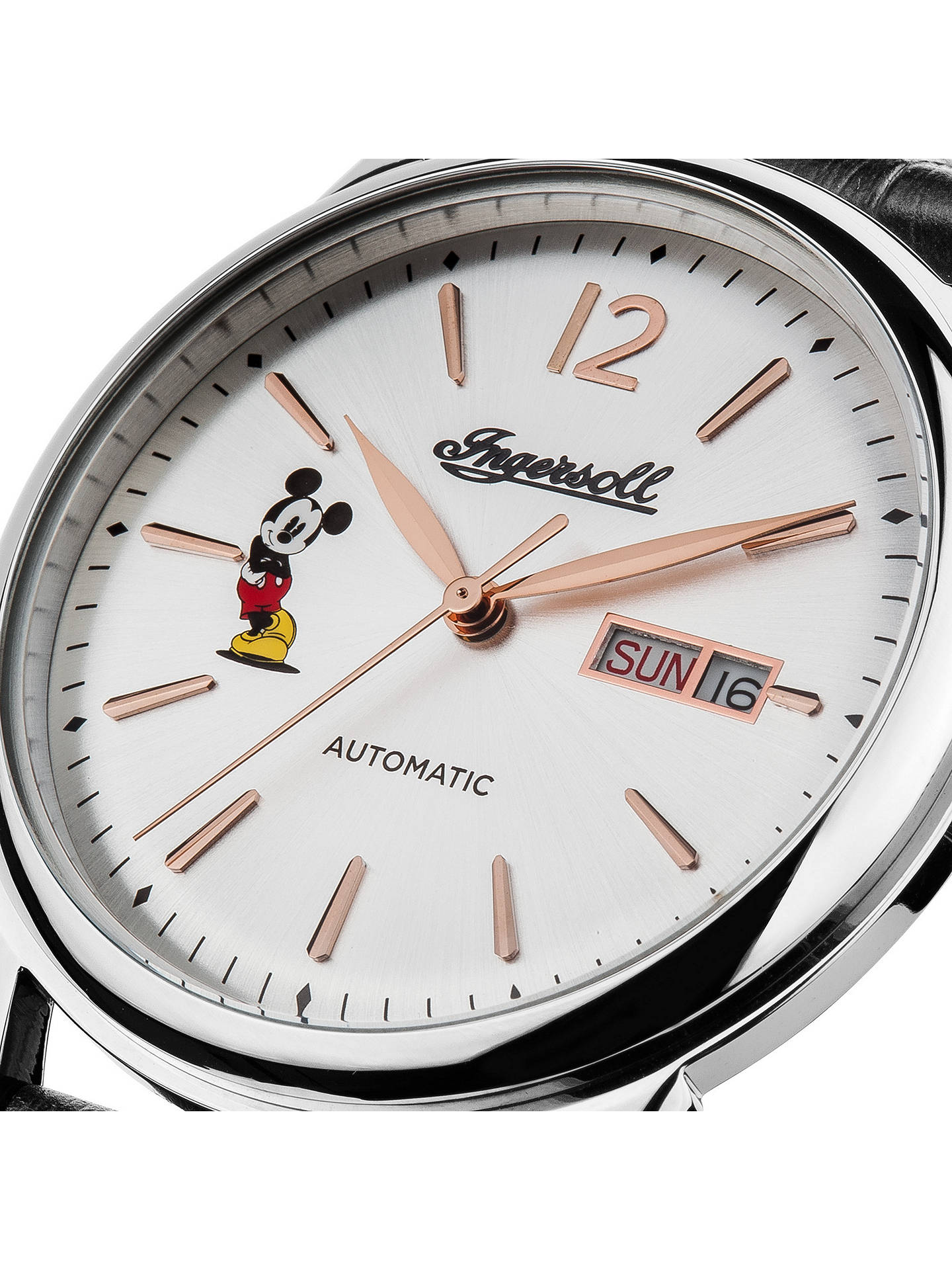 ... BuyIngersoll ID00201 Men s The New Haven Disney Automatic Day Date  Leather Strap Watch Online at johnlewis ... 542aa4a2789
