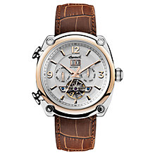 Buy Ingersoll Men's The Michigan Automatic Chronograph Date Heartbeat Leather Strap Watch Online at johnlewis.com