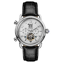 Buy Ingersoll Men's The New England Automatic Chronograph Date Heartbeat Leather Strap Watch Online at johnlewis.com