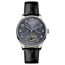 Buy Ingersoll Men's The Hawley Automatic Date Heartbeat Leather Strap Watch Online at johnlewis.com