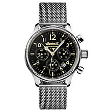 Buy Ingersoll I02901 Men's The Apsley Chronograph Date Bracelet Strap Watch, Silver/Black Online at johnlewis.com