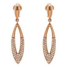 Buy Finesse Glass Cry Navette Drop Clip-On Earrings Online at johnlewis.com