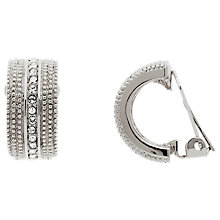 Buy Finesse Swarovsk Crystal Crescent Clip-On Earrings Online at johnlewis.com