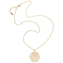 Buy Finesse Pattern Disc Long Pendant Necklace Online at johnlewis.com