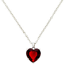 Buy Finesse Glass Crystal Heart Pendant Necklace Online at johnlewis.com