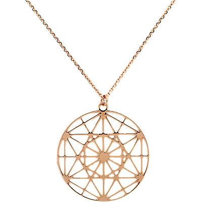 Finesse Pattern Disc Short Pendant Necklace thumbnail
