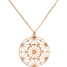 Buy Finesse Pattern Disc Short Pendant Necklace Online at johnlewis.com