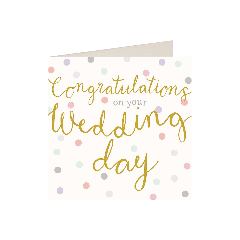 Caroline Gardner Congratulations Wedding Card at John Lewis