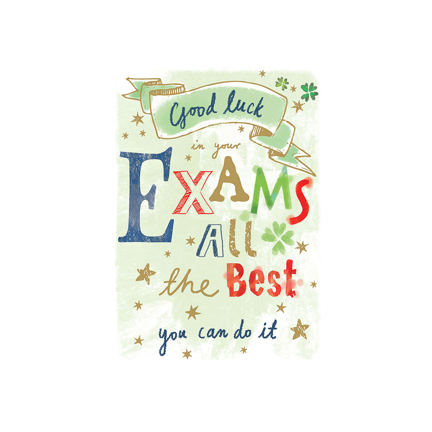 Ling good luck in your exams greeting card at john lewis buyling good luck in your exams greeting card online at johnlewis kristyandbryce Images