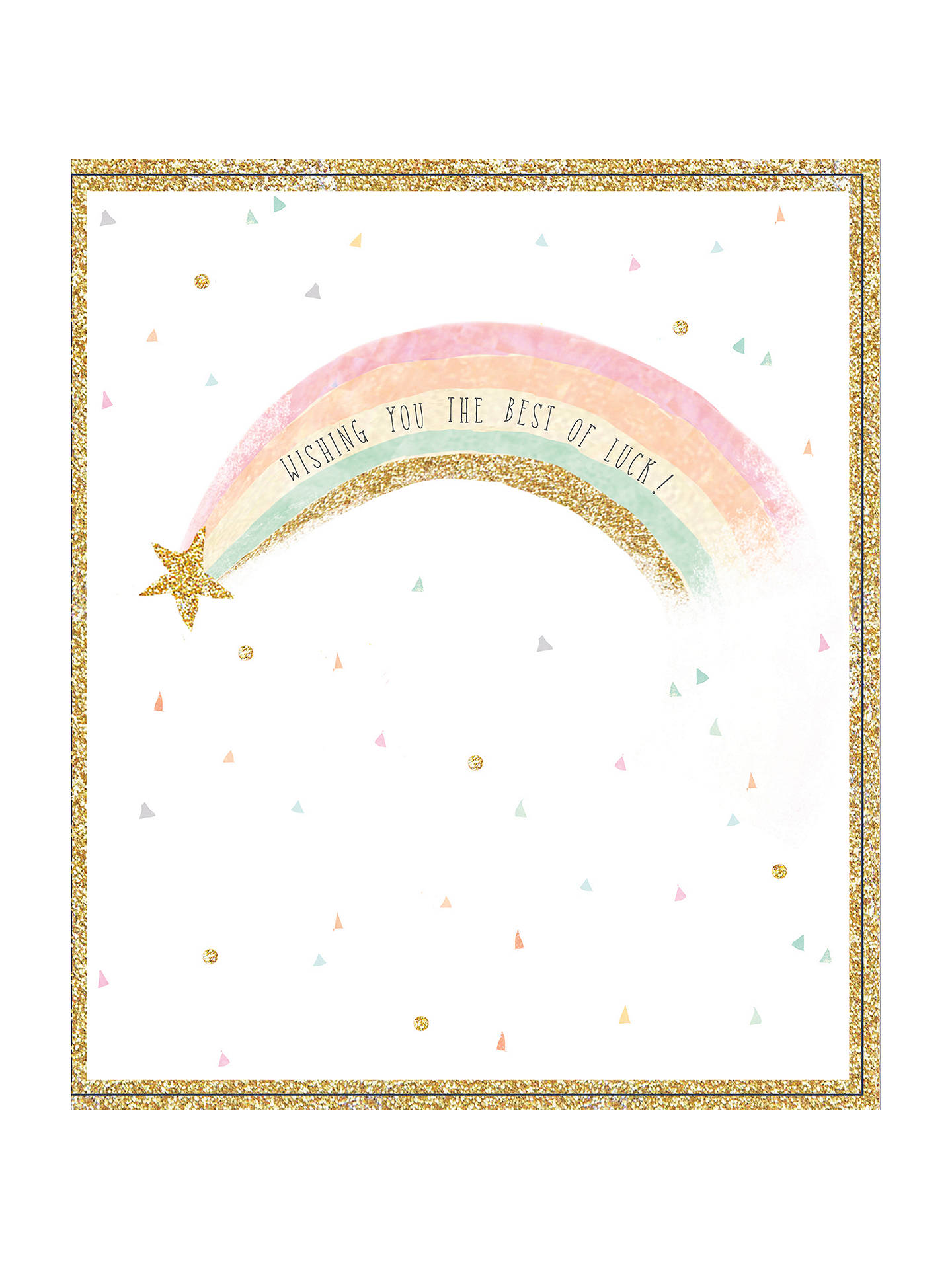 Uk Greetings Best Of Luck Rainbow Card At John Lewis Partners