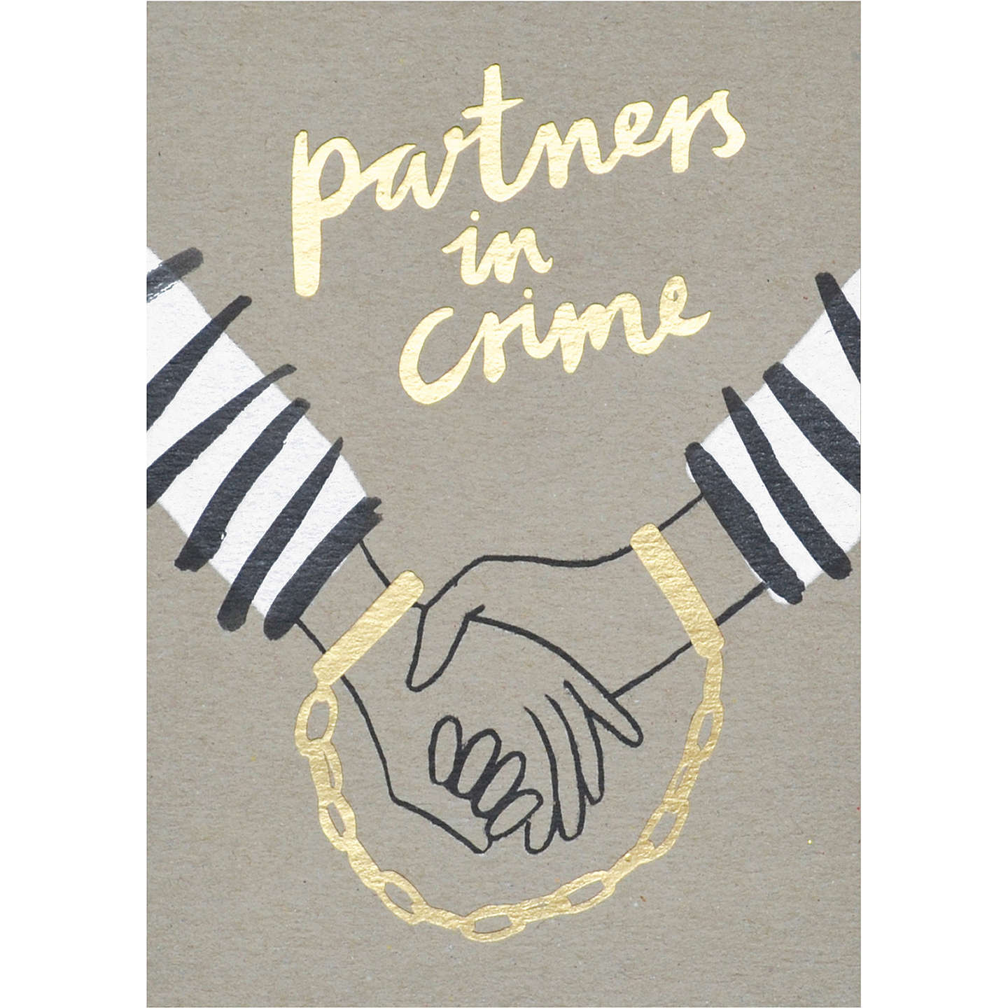 Stormy Knight Partners In Crime Wedding Card at John Lewis
