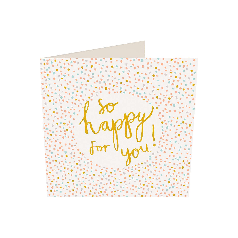 Caroline Gardner So Happy For You Wedding Card at John Lewis