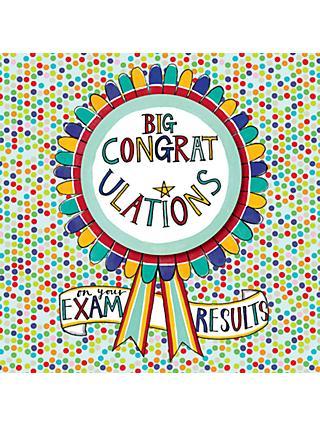 Greetings cards john lewis partners rachel ellen congratulations on your exam results rosette card m4hsunfo