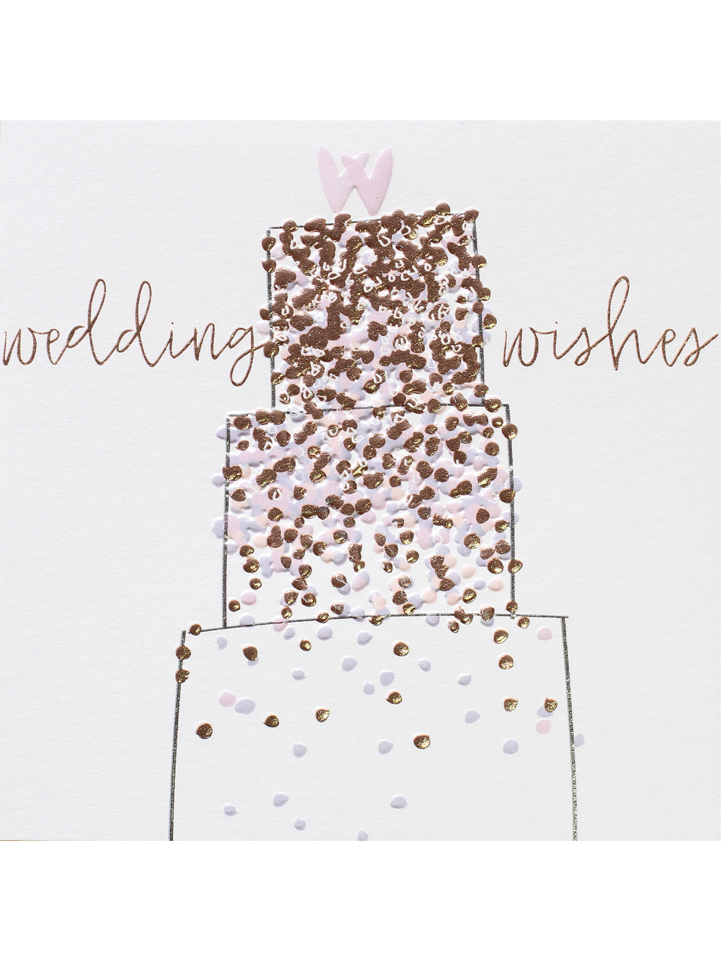 bellybutton bubble cake wedding wishes card