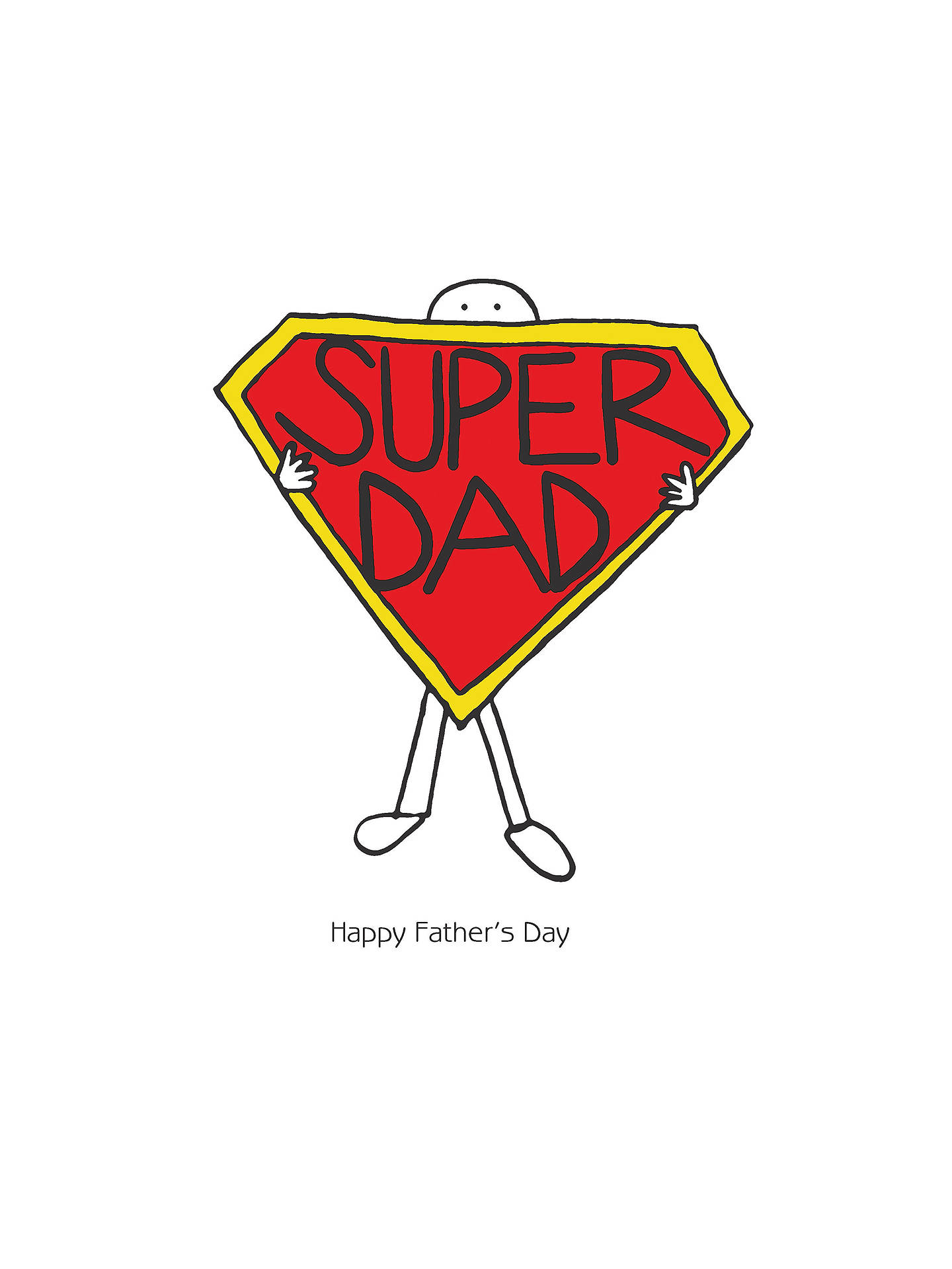 Portfolio Super Dad Fathers Day Card At John Lewis Partners