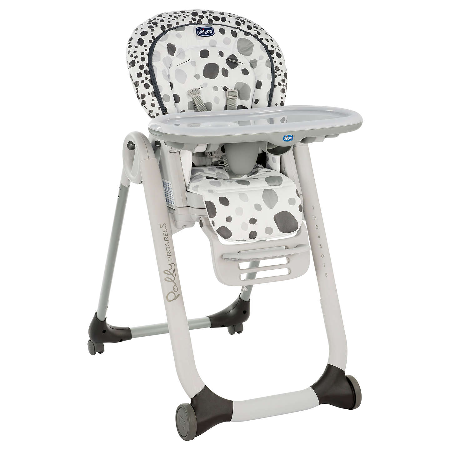BuyChicco Polly Progress Highchair, Anthracite Online At Johnlewis.com ...