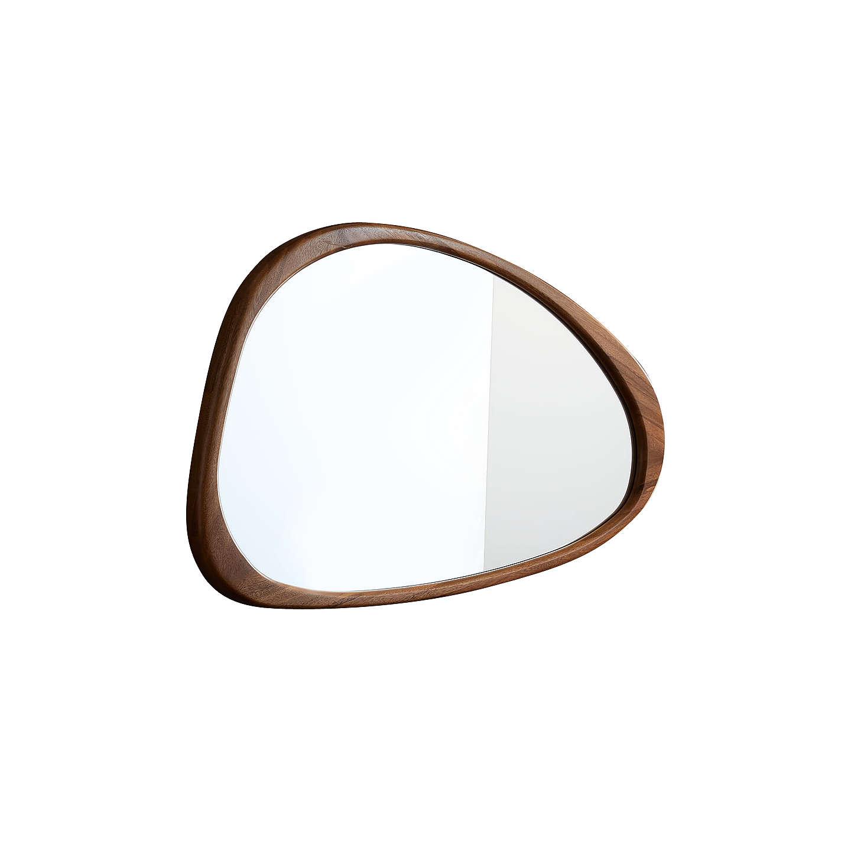 West Elm Mid Century Asymmetrical Wall Mirror Acorn At Johnlewis Com