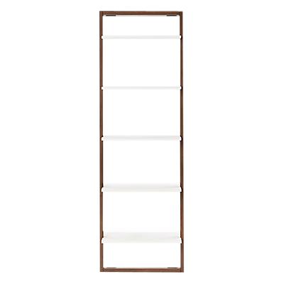 west elm Wide Ladder Shelving Unit, Bom Pecan/White