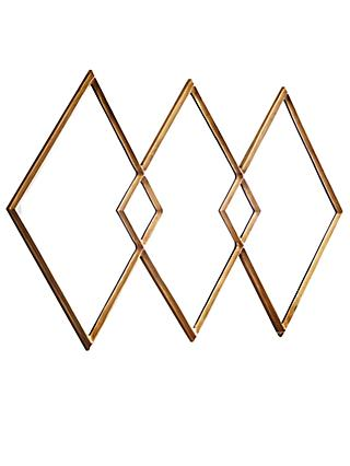 west elm Overlapping Diamonds Mirror, Brass