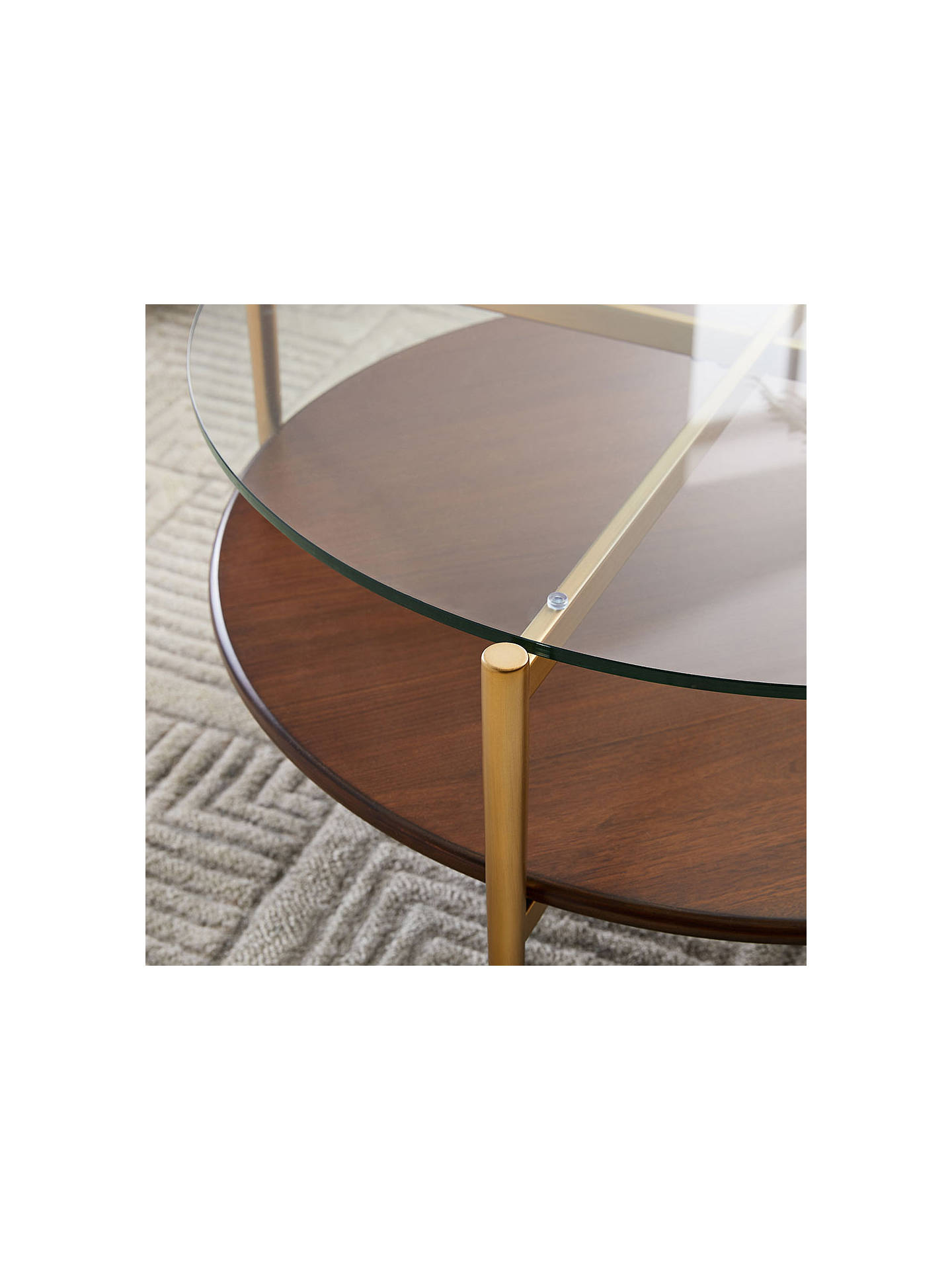West Elm Art Display Round Coffee Table At John Lewis Partners