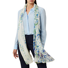Buy Hobbs Miranda Scarf, Ivory Blue Online at johnlewis.com
