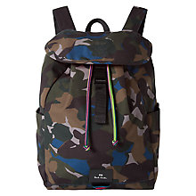 Buy PS Paul Smith Camouflage Backpack, Green Online at johnlewis.com