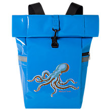 Buy PS Paul Smith Octopus Print Roll-Top Backpack, Light Blue Online at johnlewis.com