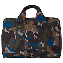 Buy PS Paul Smith Camouflage Holdall, Green Online at johnlewis.com