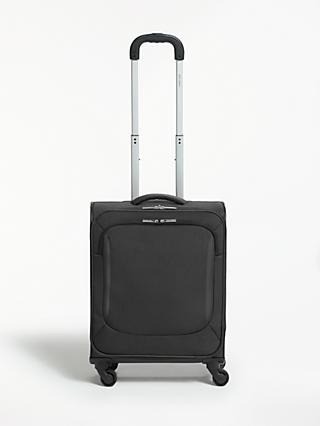 John Lewis & Partners Greenwich 2 4-Wheel 55cm Cabin Suitcase, Graphite